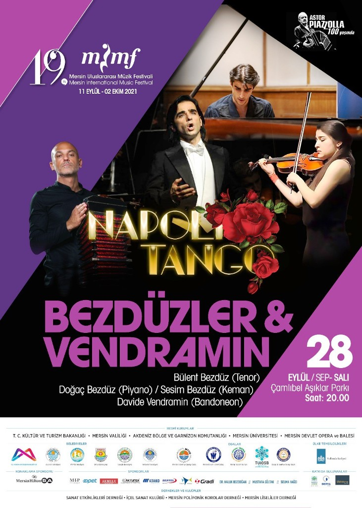 19. Mersin Uluslararası Müzik Festivalinde akapella ve tango rüzgarları esecek
