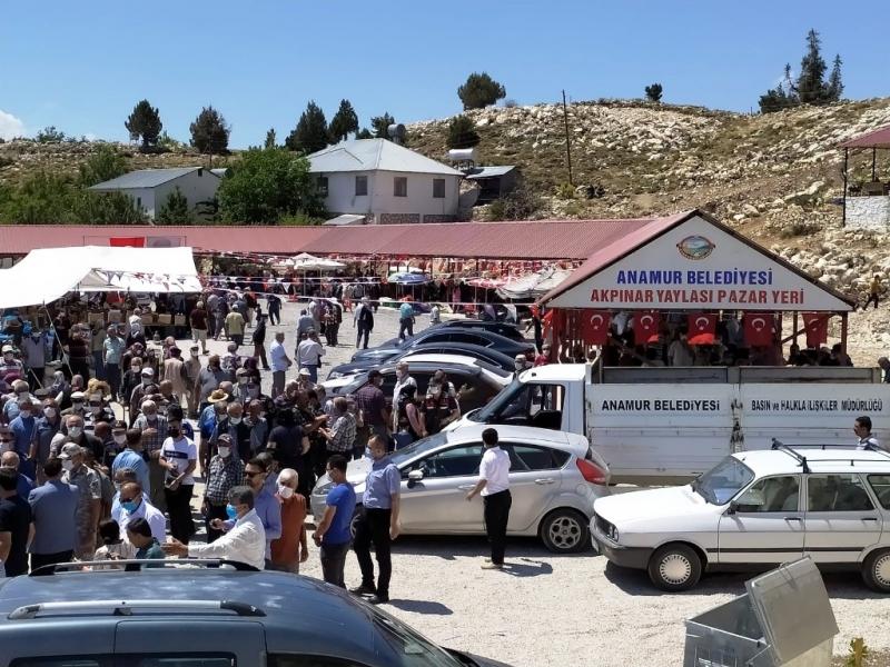 Anamur'da Akpınar Yaylası Kapalı Halk Pazarı hizmete açıldı
