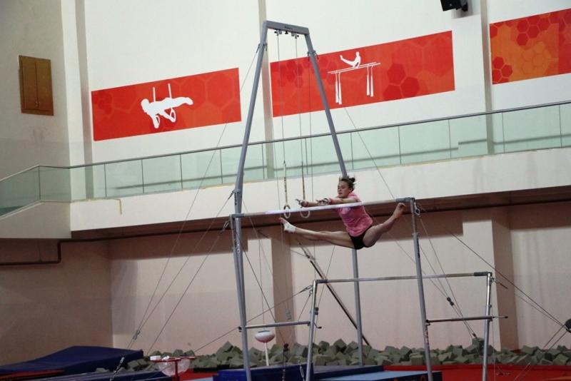 Artistik Cimnastik Milli Takımı, Mersin'de kampa girdi