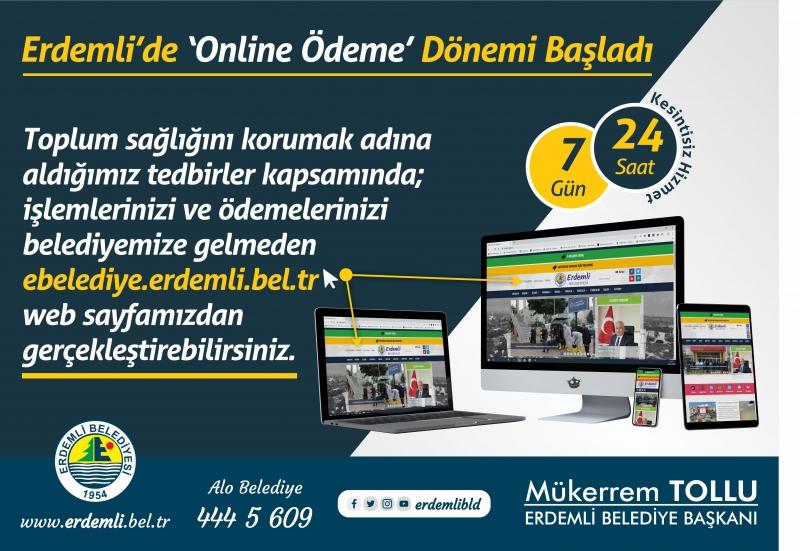 Erdemli Belediyesi'nden 'Online Hizmet'