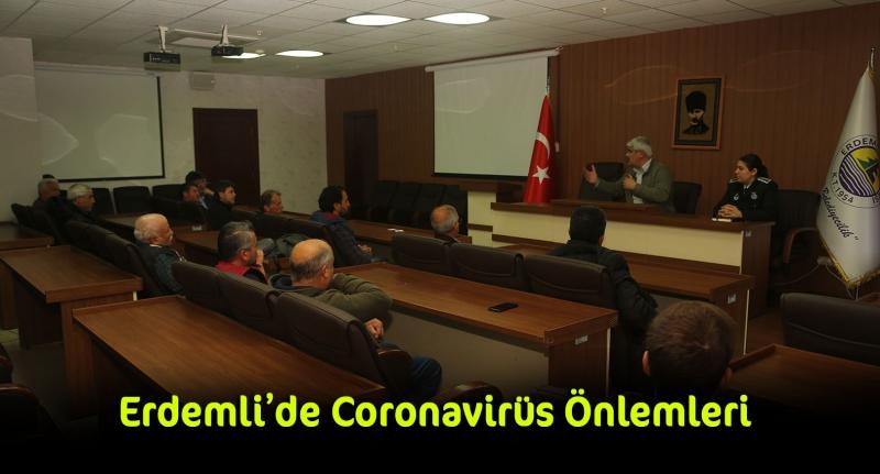 Erdemli'de Coronavirüs Önlemleri Minibüs ve Taksilerde Devam Ediyor