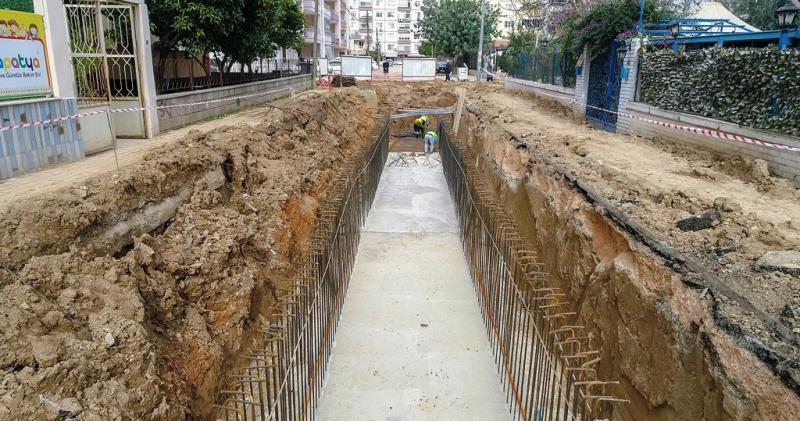 Gazi Mahallesi yağmursuyu hattına kavuşuyor