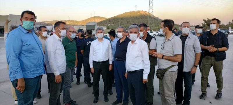 İçişleri Bakan Yardımcısı İnce, Mersin'de yangın bölgesinde