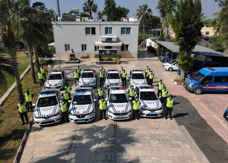 Jandarmadan drone destekli trafik uygulaması