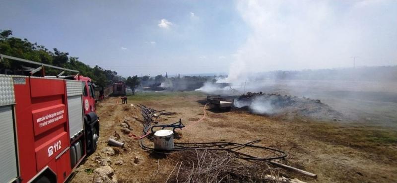 Korkutan yangın, maddi hasara neden oldu