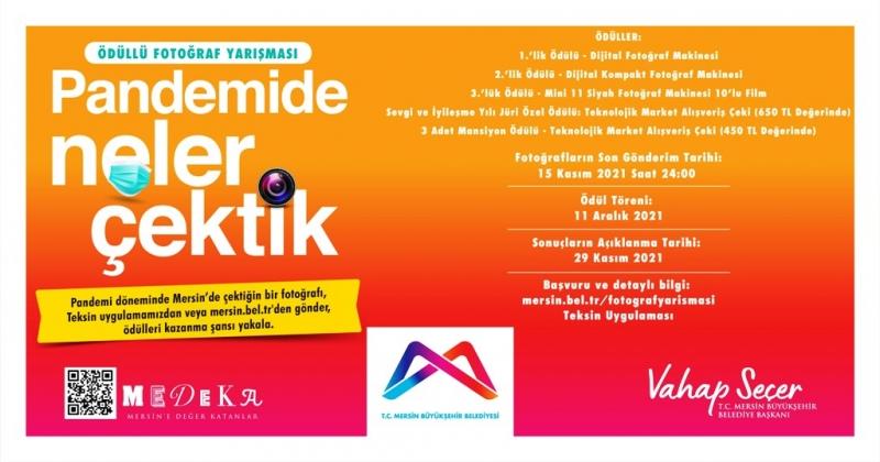 Mersin Büyükşehir Belediyesi'nden ödüllü roman ve fotoğraf yarışması