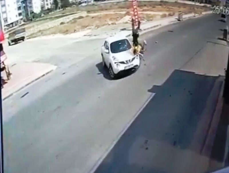 Mersin'de motosiklet kazaları