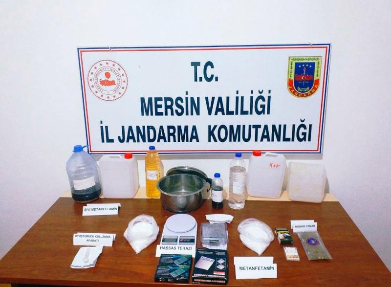 Mersin'de uyuşturucu operasyonu 4 gözaltı