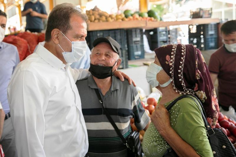Seçer, Anamur ve Bozyazı'da vatandaşlarla buluştu